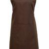 Bröstförkläde PR154 Brun