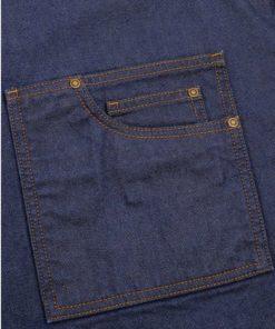 Bröstförkläde blå denim PR134