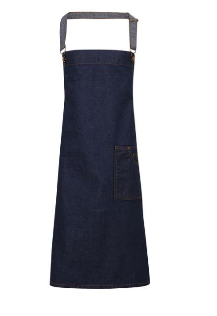 Bröstförkläde denim PR134 Blå denim