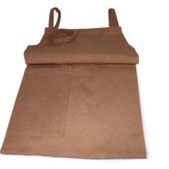 Bröstförkläde beige